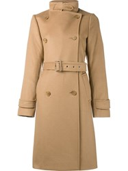 Vince Belted Trench Coat Brown