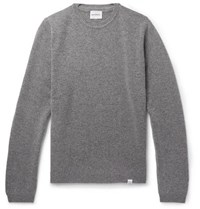 Norse Projects Sigfred Brushed Wool Sweater Gray