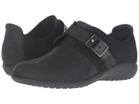 Naot Footwear Tane Oily Coal Nubuck Black Suede Black Madras Leather Shiny Black Le Women's Shoes