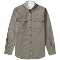 Norse Projects Villads Compact Twill Shirt Green