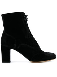 Tabitha Simmons Afton Lace Up Ankle Boots Black