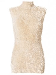 Marni Fuzzy Knitted Tank Top Nylon Nude Neutrals