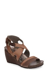 Otbt Women's Freedom Wedge Sandal Dust Grey Leather