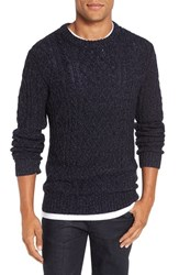 Bonobos Men's Slim Fit Cable Knit Sweater Navy