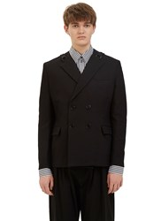 J.W.Anderson Double Breasted Strap Blazer Jacket Black