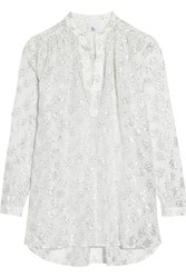Iris And Ink Isabella Metallic Fil Coupe Blouse Silver