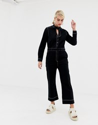 2Nd Day 2Ndday Agnes Jumpsuit With Contrast Stitching Black