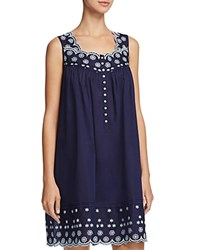 Eileen West Short Chemise Navy Floral Embroidery