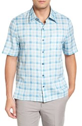 Nat Nast Men's Sea Breeze Silk Blend Camp Shirt Lapis