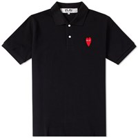Comme Des Garcons Play Large Heart Polo Black
