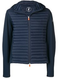 Save The Duck Hooded Padded Jacket Blue