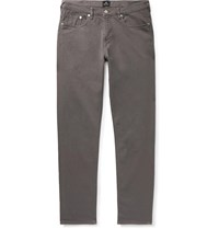 Paul Smith Ps Slim Fit Tapered Garment Dyed Denim Jeans Gray