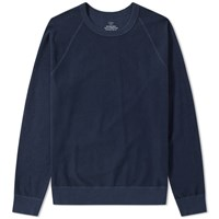 Save Khaki Fleece Crew Sweat Blue