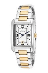 Rotary Men's Two Tone Stainless Steel Quartz Watch Metallic