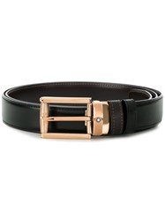 Montblanc Square Buckle Belt Black