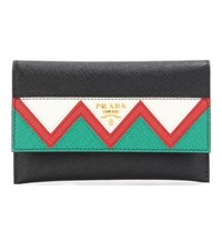 Prada Saffiano Leather Wallet Multicoloured