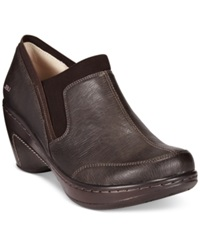 Jbu Women's Trailhead Wedge Booties Women's Shoes Dark Brown