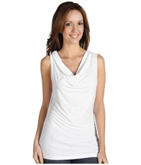 Calvin Klein Cowl Neck Sleeveless Top White Women's Sleeveless