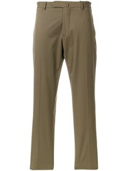 Dell'oglio Cropped Chinos Green