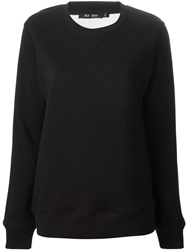 Blk Dnm Sheer Back Sweatshirt