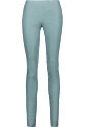 Drome Leather Leggings Gray Green