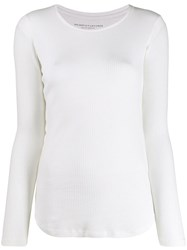 Majestic Filatures Long Sleeved Vest Top White