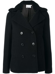 Alexander Wang T By Double Breasted Peacoat Black