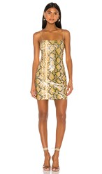Likely Gold Python Hayley Dress In Yellow.