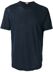 James Perse Crew Neck T Shirt Blue