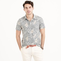 J.Crew Pocket Polo Shirt In Hawaiian Floral
