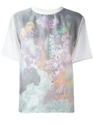 Carven Faded Floral Print T Shirt