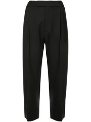 Monse Cropped Tailored Trousers Black