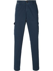 Eleventy Tapered Cargo Trousers Blue