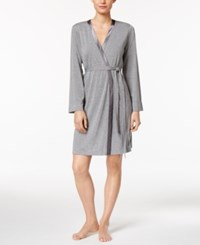 Alfani Satin Trimmed Wrap Robe Only At Macy's Gray