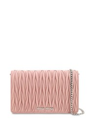 Miu Miu Mini Delice Quilted Leather Shoulder Bag Pink