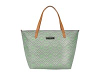 Petunia Pickle Bottom Embossed Downtown Tote Covent Garden Stop Tote Handbags Green