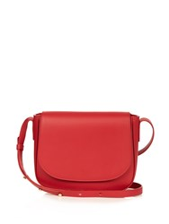 Mansur Gavriel Cross Body Leather Satchel Bag Red