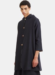 Marvielab Mid Length Hooded Double Layered Jacket Navy