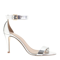 J.Crew Mirror Metallic High Heel Sandals Metallic Silver
