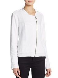 Splendid Asymmetrical Zip Front Jacket White