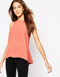Vero Moda High Neck Sleeveless Top Marsala