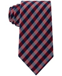 Club Room Men's Gingham Tie Only At Macy's Red