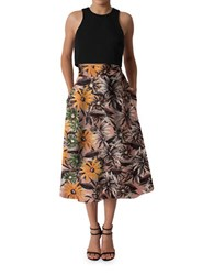 Black Halo Sanibel Two Piece Fit And Flare Dress