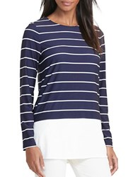 Lauren Ralph Lauren Striped Long Sleeve Jersey Top