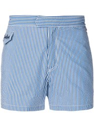 Mc2 Saint Barth Striped Swimming Shorts Blue