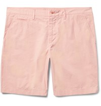 Burberry Cotton Chino Shorts Pink