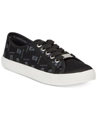 Bebe Sport Dane Lace Up Sneakers Women's Shoes Black Nylon