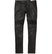 Belstaff Eastham Slim Fit Coated Stretch Denim Jeans Black