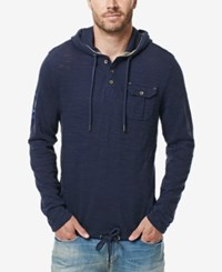 Buffalo David Bitton Men's Kifaro Burnout Hoodie Whale
