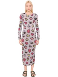 House Of Holland Heart Printed Cotton Jersey Dress